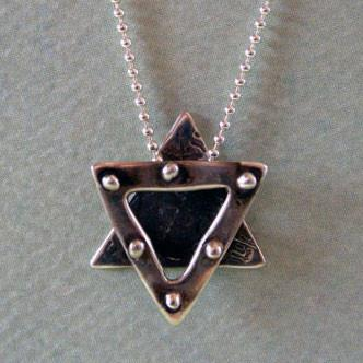 Rachel Miller Necklaces Silver Studded Star of David Necklace for Women