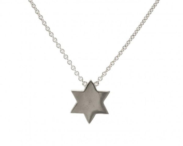 Sugar Bean Jewelry Necklaces Silver Tailored Star of David Necklace in Sterling Silver