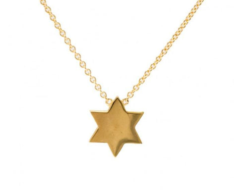Tailored Star of David Necklace in Yellow Gold by Sugar Bean Jewelry - ModernTribe