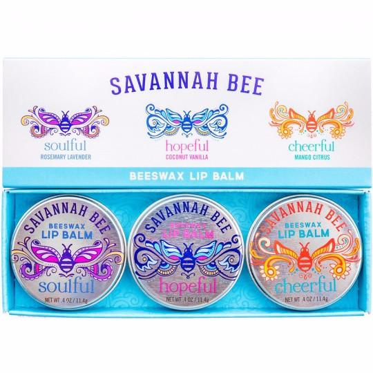Savannah Bee Company Beauty Supply Wishes For A New Year: Beeswax Lip Balm Trio