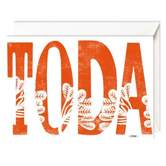 Toda - Thank You - Card by Dvash by Dvash - ModernTribe