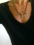 Four Toggle Necklace in Bronze by Marla Studio by Marla Studio - ModernTribe - 3