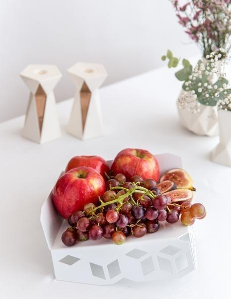 Elevated Geometric Matzah Tray/ Fruit Tray