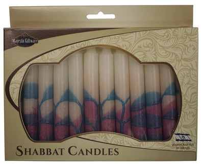 Tree Style Pink Shabbat Candles | Set of 12