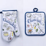 Hanukkah Musings Oven Mitt and Pot Holder