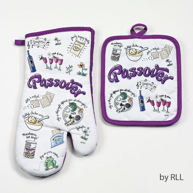 Passover Potpourri Oven Mitt and Pot Holder