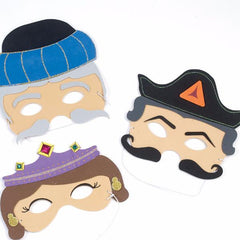 Purim Masks | Esther, Haman and Mordechai