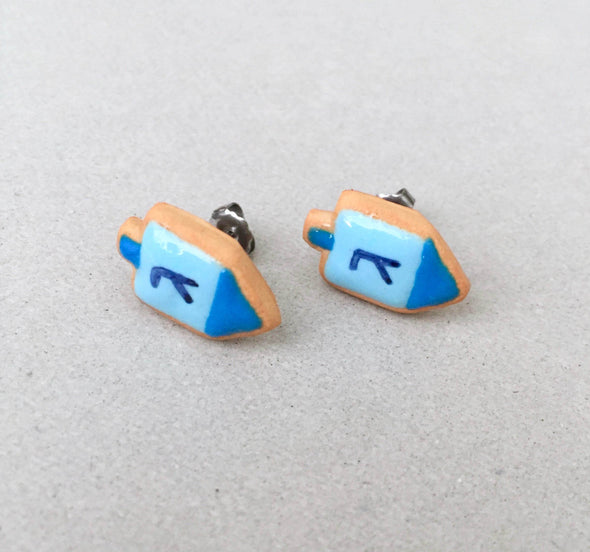 Dreidel Cookie Earrings