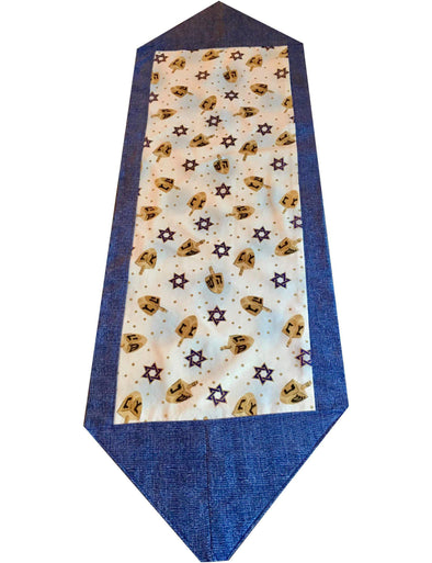 Hanukkah Dreidel Table Runner