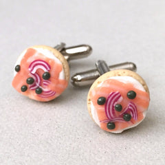 Bagel and Lox Cufflinks