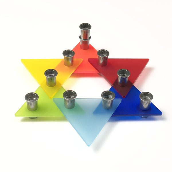 Star of David Acrylic Menorah Kit - ModernTribe