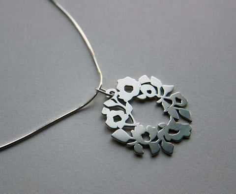 Silver Blooming Ring Pendant Necklace by Melanie Dankowicz by Melanie Dankowicz - ModernTribe - 1