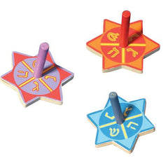 Star Wooden Dreidel - Ages 3+ by Aviv Judaica - ModernTribe
