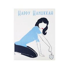 Happy Hanukkah Dreidel Cards - Box of 10 by Other - ModernTribe