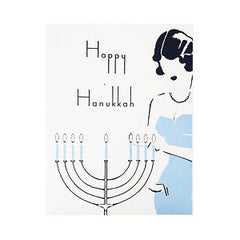 Happy Hanukkah Menorah Cards - Box of 10 by Other - ModernTribe