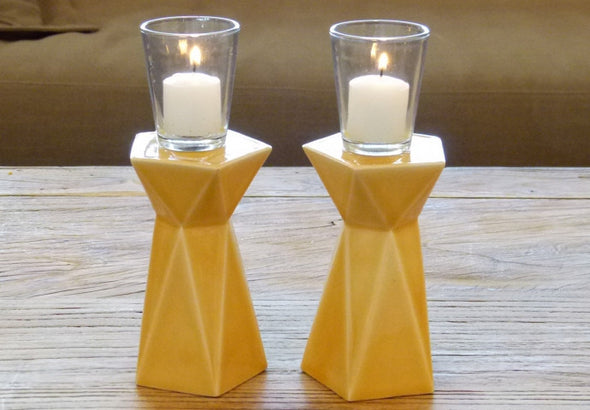 Double Sided Geometric Candle Holders - ModernTribe
