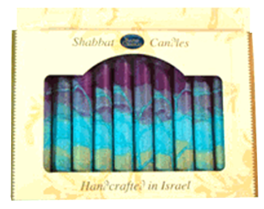 Safed Candles Default Harmony Violet Shabbat Candles | Set of 12