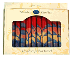 Harmony Red Shabbat Candles | Set of 12 by Safed - ModernTribe