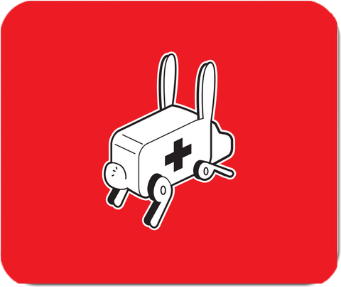 Rabbit Ambulance Mousepad