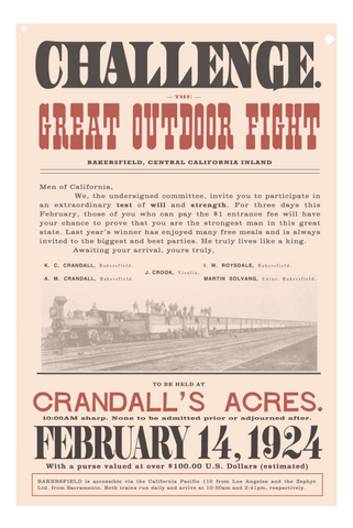 Posters - Great Outdoor Fight 1924