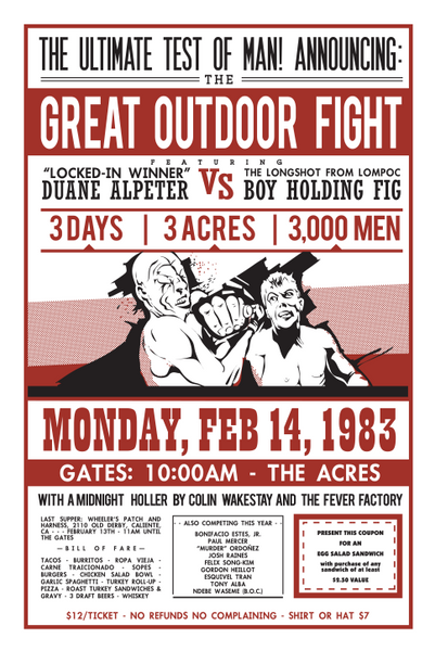 Poster - Great Outdoor Fight 1983