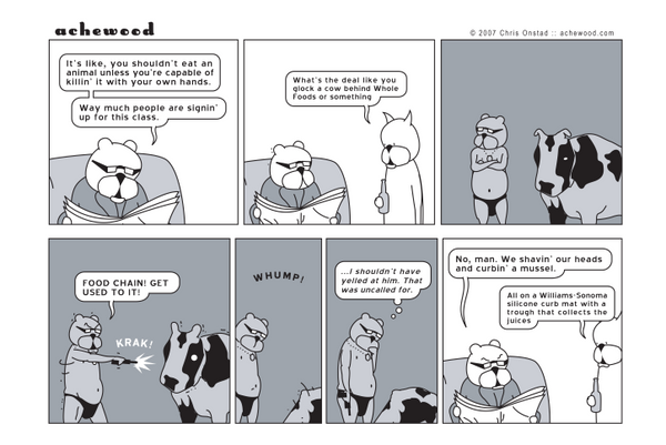 Comic - Ray Glocks a Cow (01/31/2007)