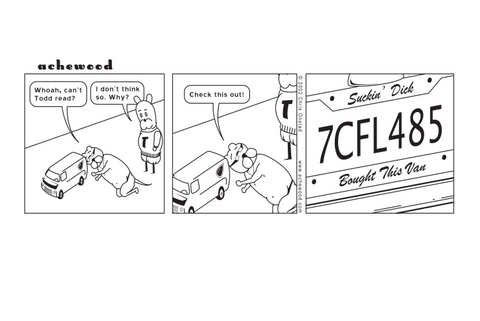 Comic - Todd's License Plate Frame (04/29/2002)