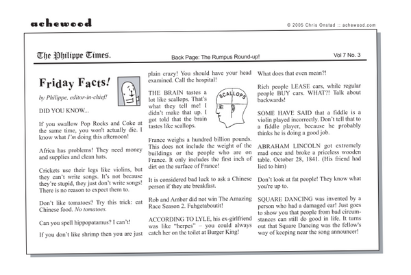 Comic - Philippe Times Friday Facts  (05/13/2005)