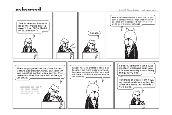 Comic - Achewood Award for Google (05/17/2006)