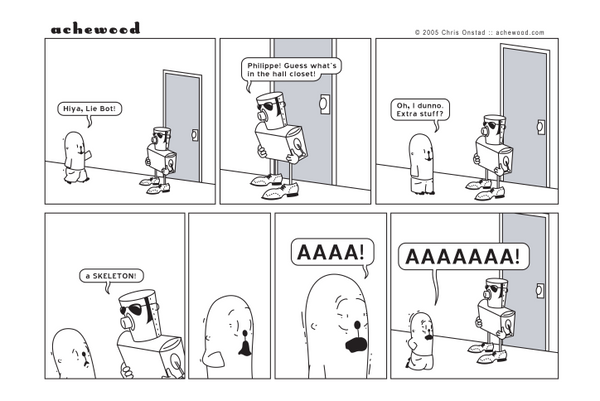Comic - Philippe and the Skeleton - (07/05/2005)