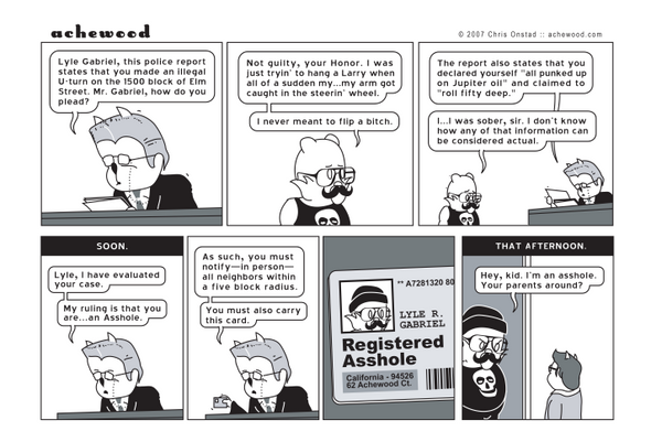 Comic - Lyle in Traffic Court (08/27/2007)