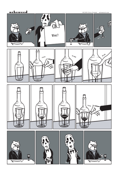 Comic - Cartilage Head Offers Wine (09/16/2005)