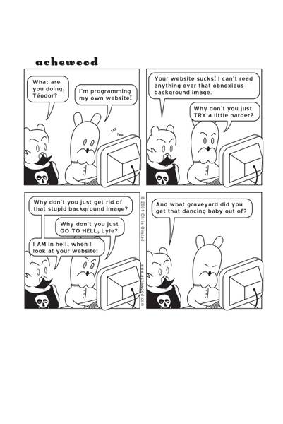 Comic - The Web Designer (10/29/2001)