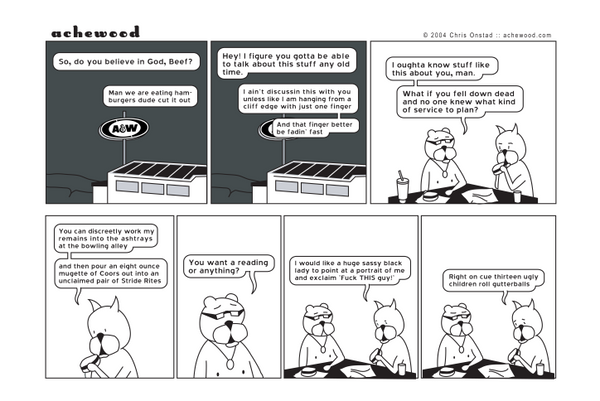 Comic - Bowling Alley Funeral (11/05/2004)