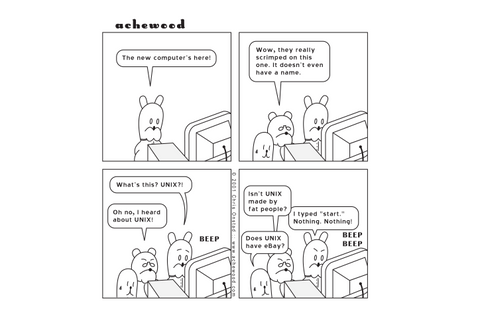 Comic - A change of operating... - (12/05/2001)