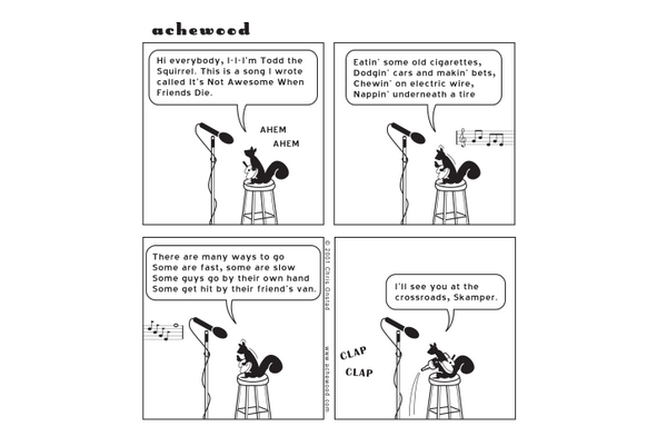 Comic - Todd; open mic nite - (12/06/2001)