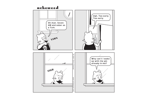 Comic - Lyle's pensive morning... - (12/20/2001)