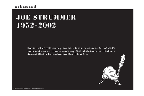 Comic - JOE STRUMMER HAS DIED - (12/23/2002)