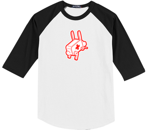 Rabbit Ambulance Baseball Tee