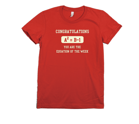 The Equation of the Week Women's T-Shirt