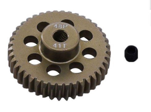 Aluminum 7075 Hard Coated 48DP  Motor pinion Gear-for 1/10 RC Car