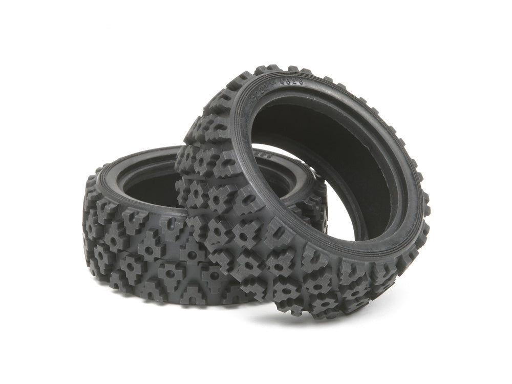 Tamiya Rally Block Tires (1 Pair) Item No: 50476 - Hobby Circuit