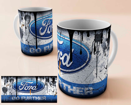 Ford vintage oil can mug