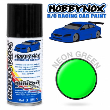 Hobbynox Neon Green R/C Racing Car Spray Paint 150 ml HN1408