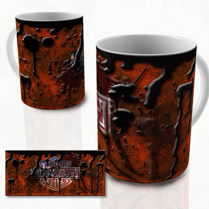 Harley vintage oil can mug