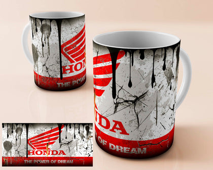 Honda moto vintage oil can mug