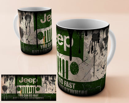 Jeep vintage oil can mug