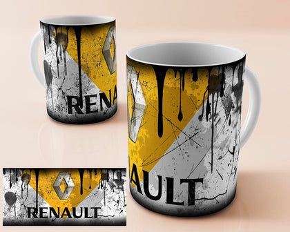 Renault vintage oil can mug