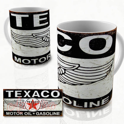 Texaco  vintage oil can mug