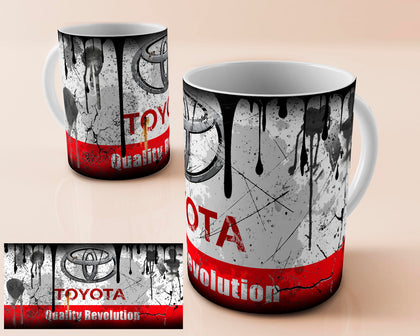 Toyota vintage oil can mug